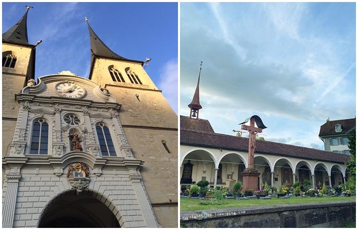 โบสถ์หอคอยคู่ปลายแหลม เมื่องลูเซิร์น