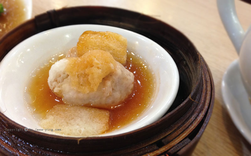 เยื่อไผ่ยัดไส้ Shrimp Dumplings Topped with Bamboo Pith